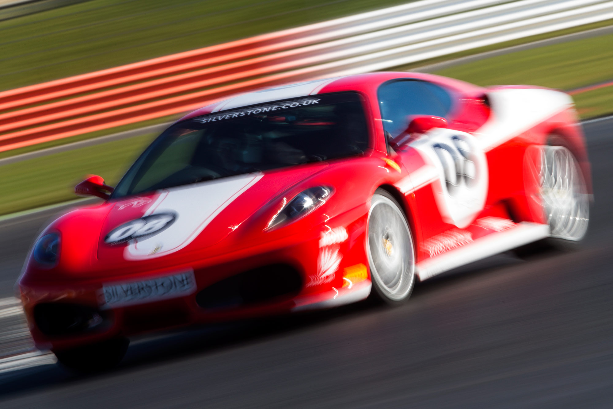 Ferrari F430 on track at Silverstone