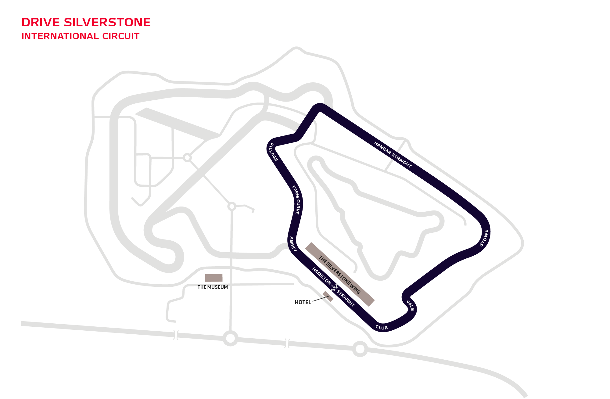 Drive Silverstone International circuit map