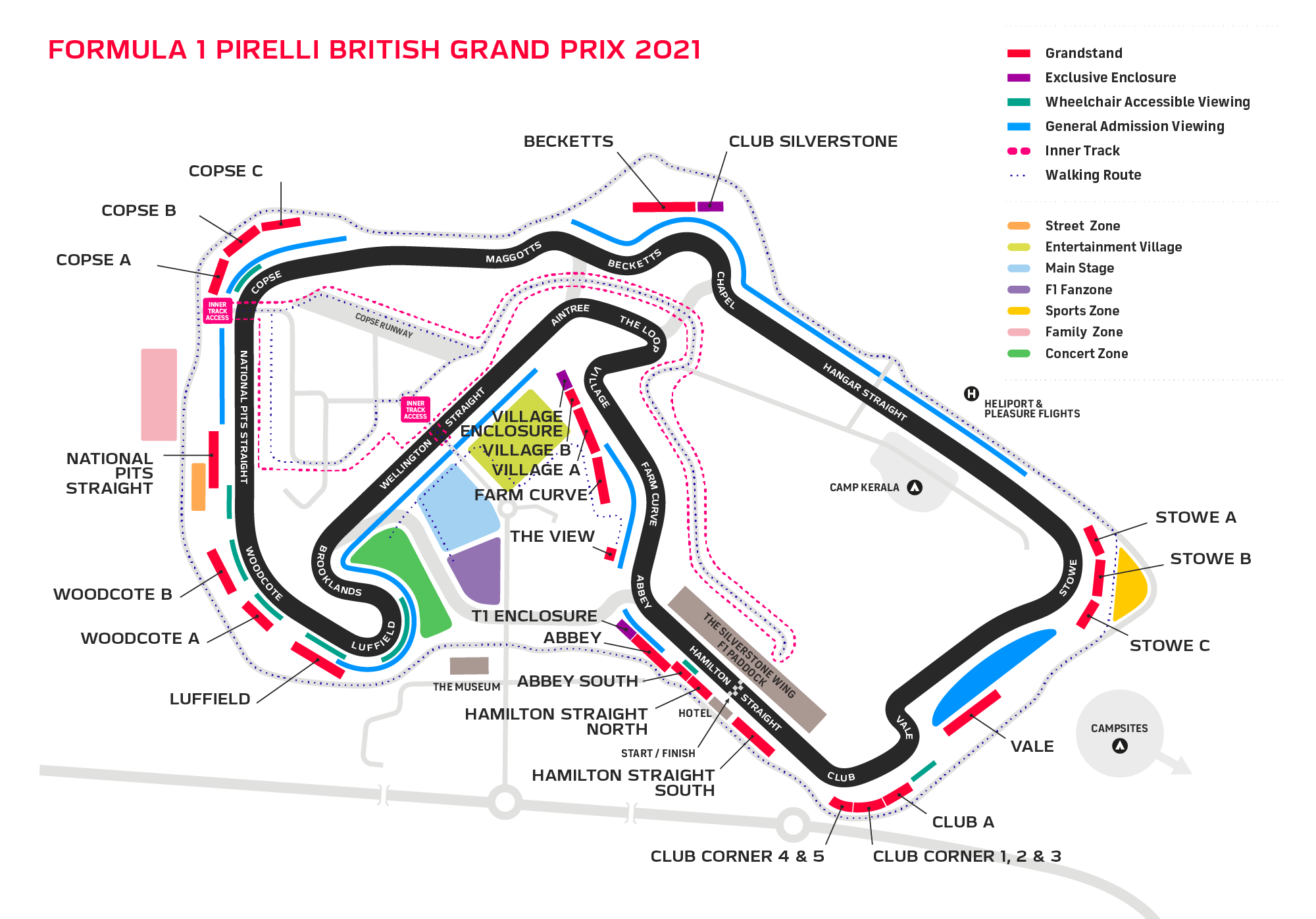 Silverstone F1 Event 2021 Venue Map