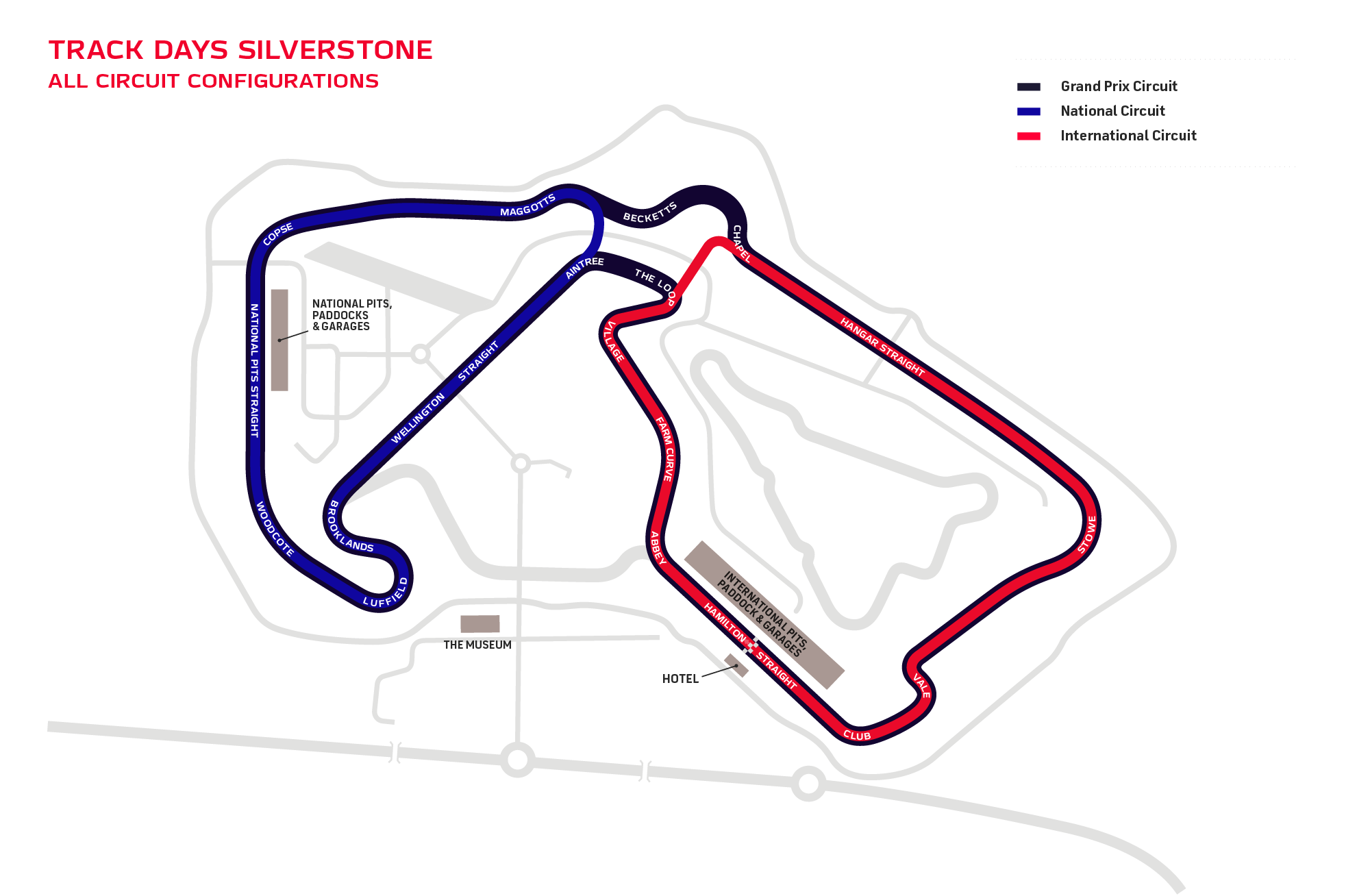 Track Days circuits at Silverstone