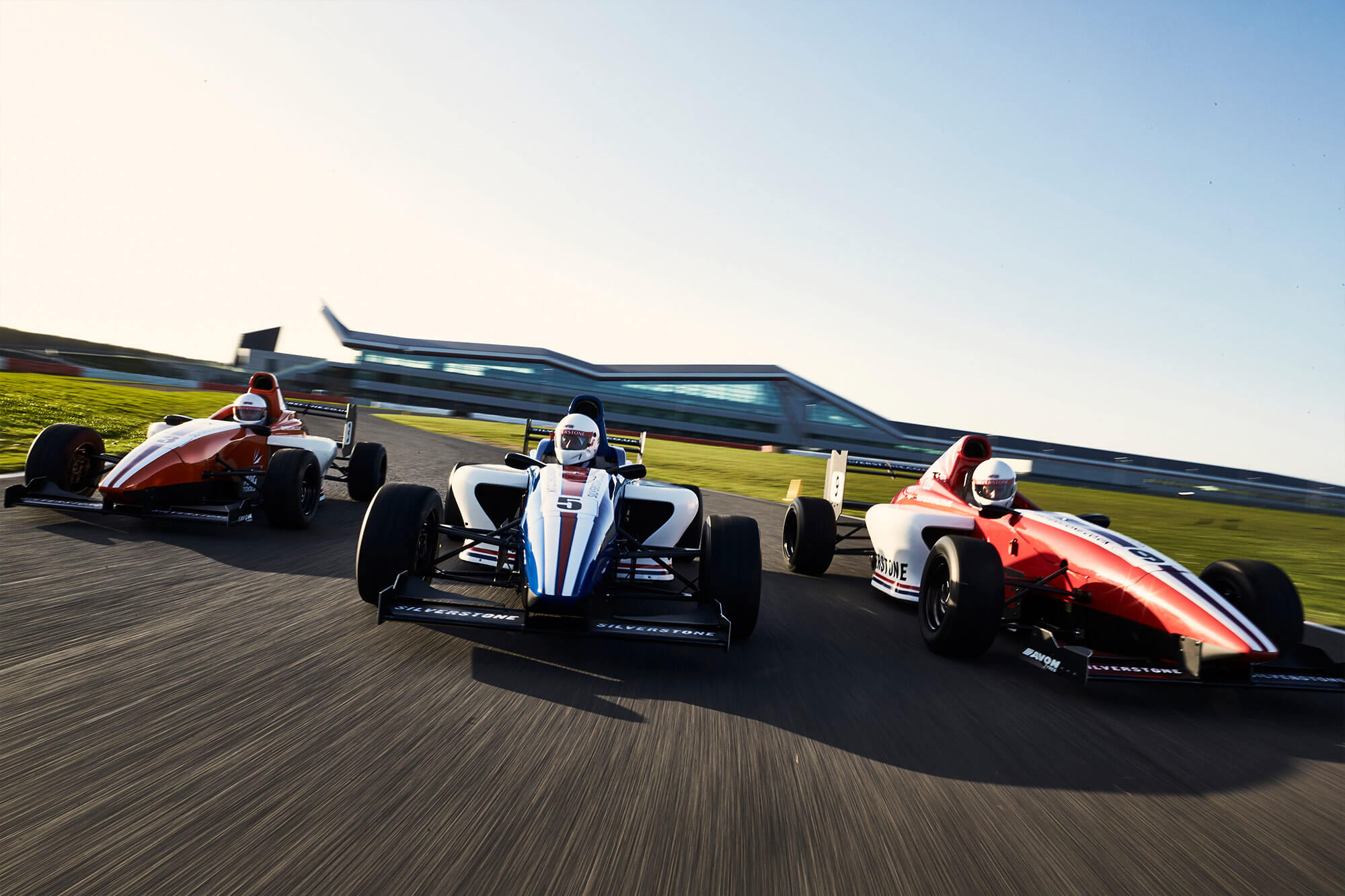 Single seater cars on track