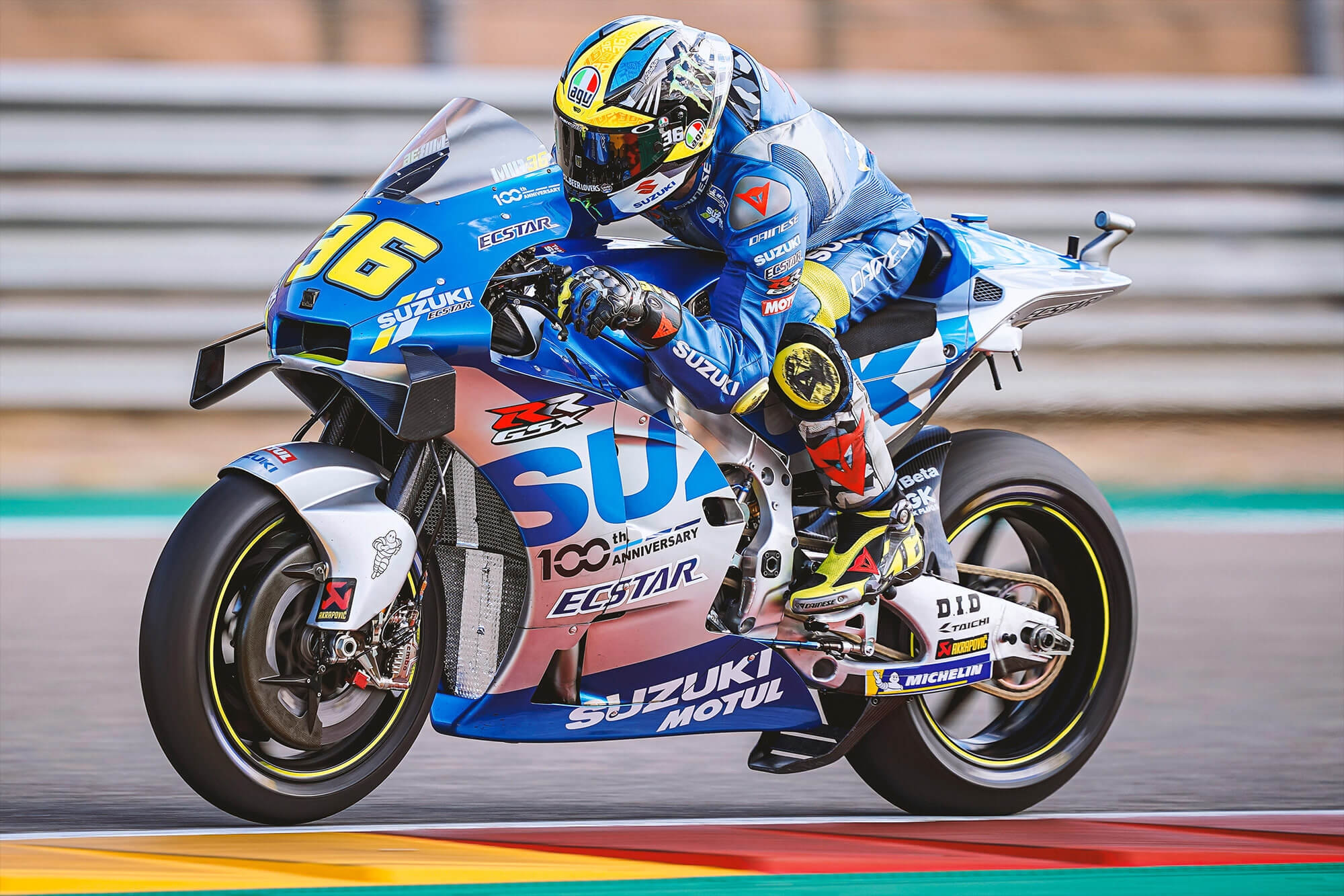 MotoGP Joan Mir riding on track