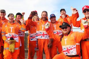 Our friendly team of Race Marshals at Silverstone